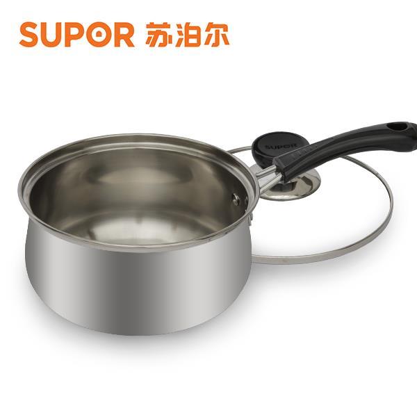 苏泊尔时尚304不锈钢奶锅小汤锅ST16H1电磁炉通用