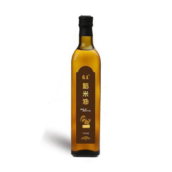 苏垦稻米油 750ml*2瓶 玻璃瓶装 富含谷维素 无添加