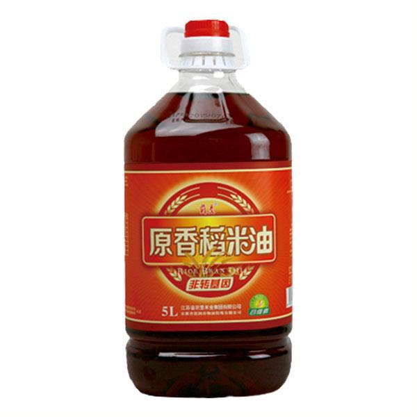 苏垦原香稻米油 5L装 富含谷维素 无添加